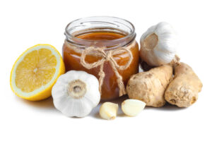 jarabe de miel ajo jengibre y limon