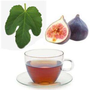 té hoja y fruto de higo