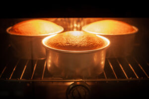 hornear el pastel